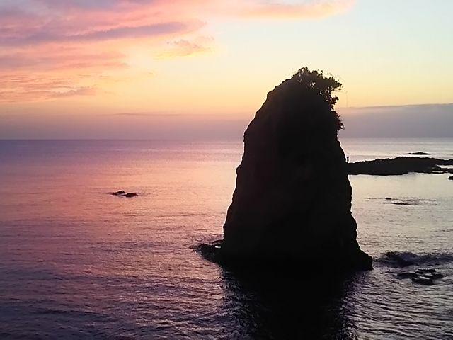 立石の夕暮れ_立石公園