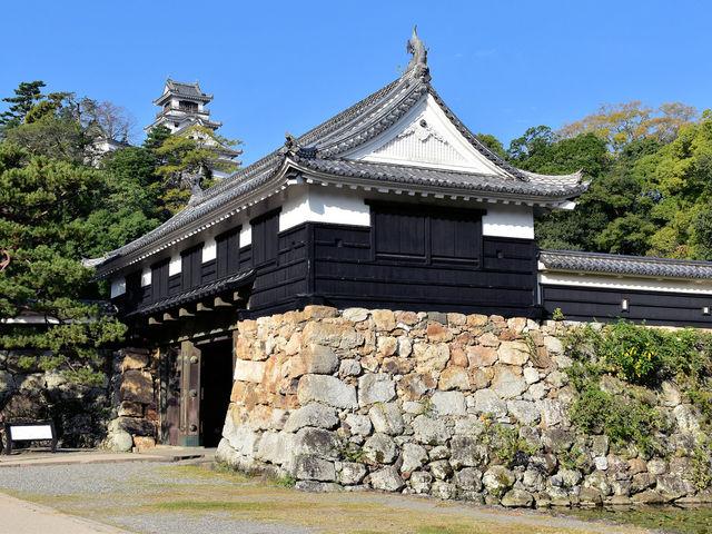 追手門から天守閣を望む_高知城