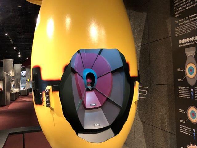ファットマンの模型_長崎原爆資料館
