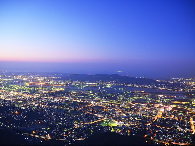 空気の澄んだ極寒の日_皿倉山