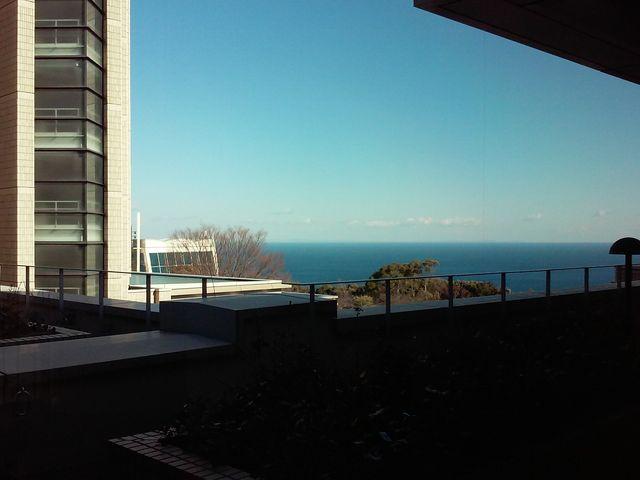 お風呂のあるフロアから海が見えます。_ヒルトン小田原リゾート&スパ