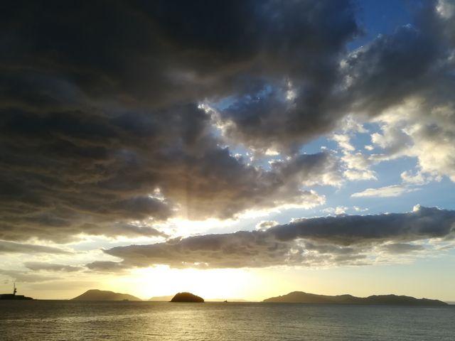 うたづ臨海公園から見た海_うたづ臨海公園