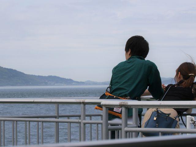 綺麗な風景ですね_島鉄フェリー