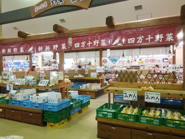 四万十野菜も豊富に_物産館サンリバー四万十