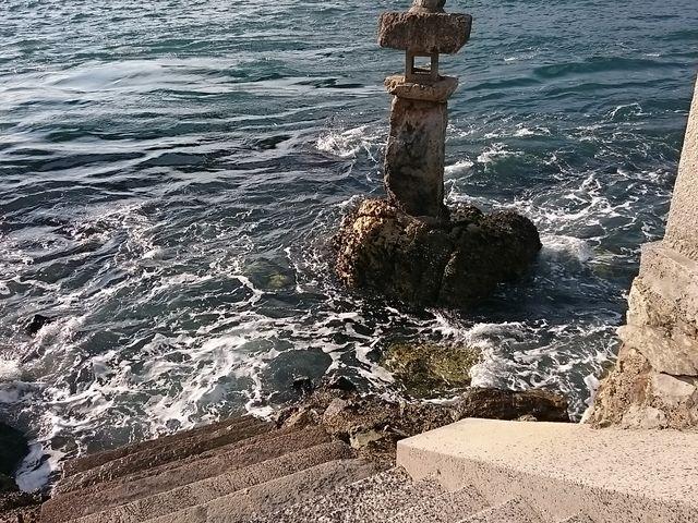 ここから海に入り旧正月に和布刈神事を行います_和布刈神社