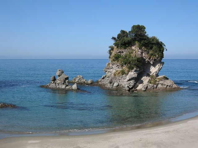 熊本から鹿児島にドライブ途中で見つけました_西方海岸