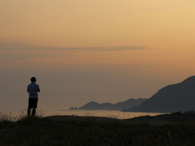 夜明け前Ⅱ_鳥取砂丘オアシス広場