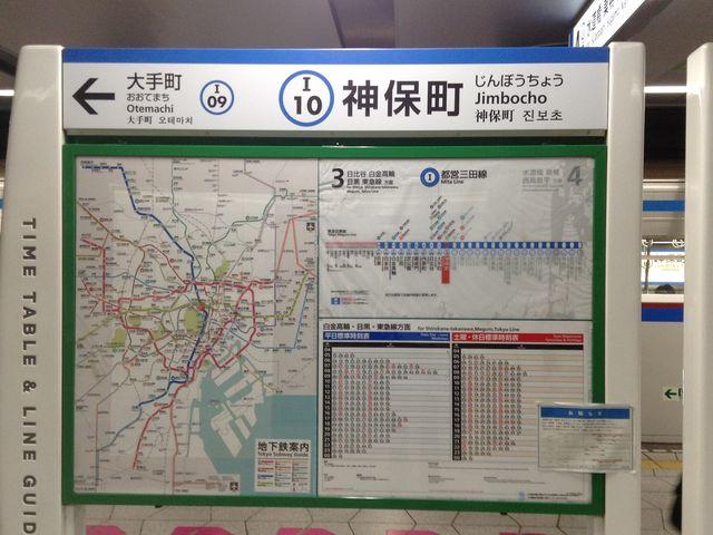 ホーム看板_都営三田線 神保町駅