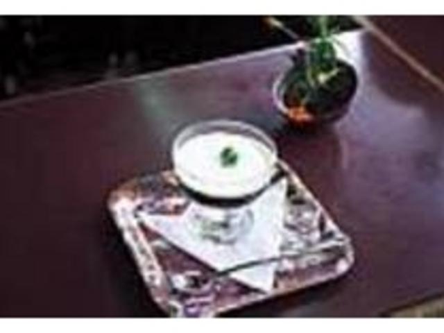 ほろ苦いコーヒーゼリーは津和野の思い出に_沙羅の木