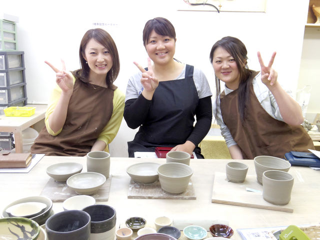 1名様からでもお気軽にご参加できます!_うづまこ陶芸教室