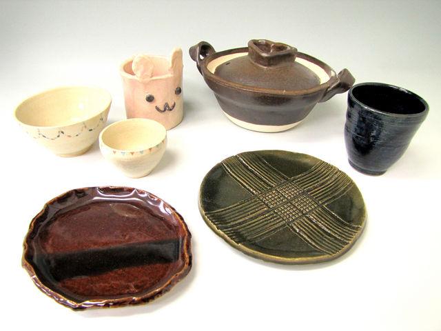 体験でも様々な作品が作れます♪_うづまこ陶芸教室