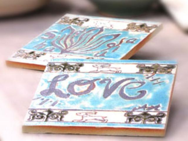 きれいなタイル作りも出来ます☆_うづまこ陶芸教室