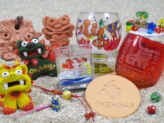 シーサーや琉球ガラス、キャンドルなど、沖縄アートが勢ぞろい!_沖縄アート体験 美ら風