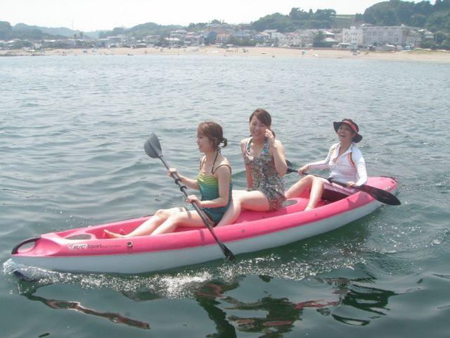 誰でも簡単に沖に行ける海のカヌー,シーカヤックなら二人乗りもOK_エスライド