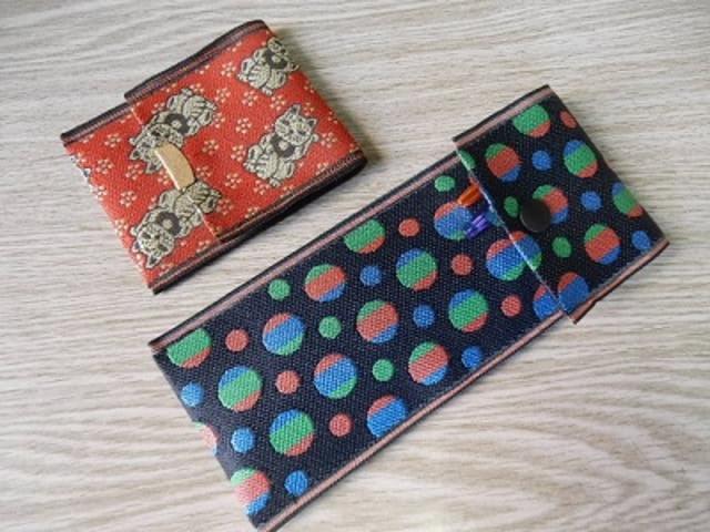 畳縁カード入れ&ペンケース_榊原タタミ店