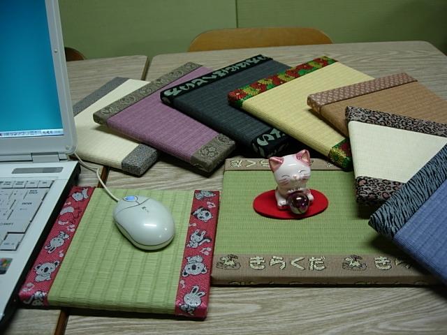 マウスパッド・花台・写真立などに使える豆たたみ♪_榊原タタミ店