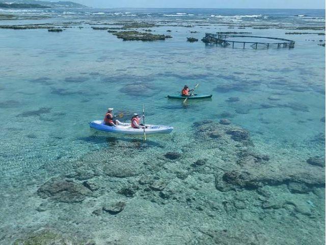 カヤックで沖縄の海を満喫する。_自然体験学校 沖縄校