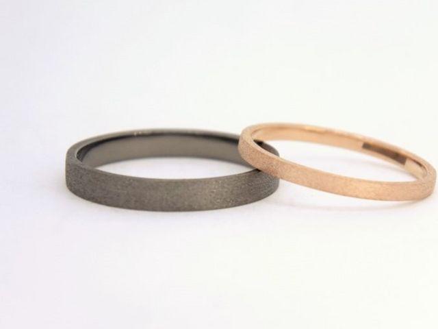 【お客様作品集】No.1 ダイヤバーテクスチャ&メッキ加工_Somm Jewelry【ソムジュエリー】