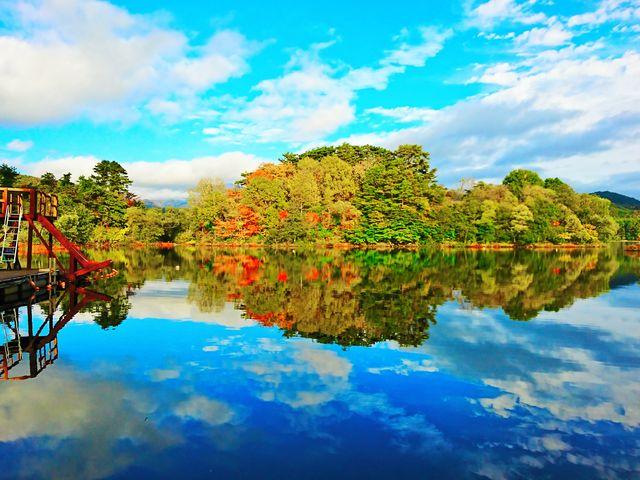 ビッグスライダーと静寂の入り江は我々だけのプライベートレイク_福島県・会津・裏磐梯・キャンプ&ステーキBBQ体験 裏磐梯ウォーターパーク
