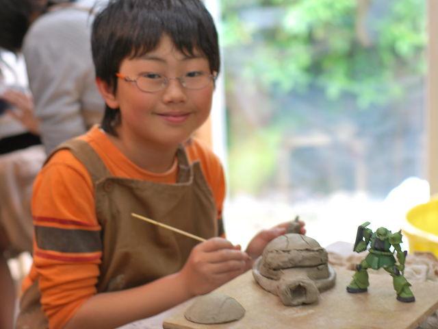 こんな笑顔や_伊豆の陶芸体験 ほけきょ庵