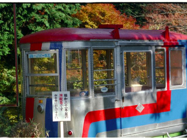 古い車両は なかなか モダン_叡山ケーブル