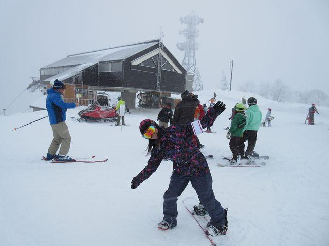 山頂付近マイナス10℃ぐらい_野沢温泉スキー場