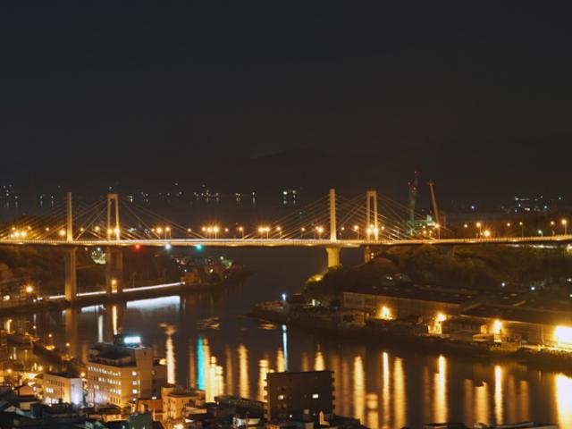 境内からの夜景_千光寺