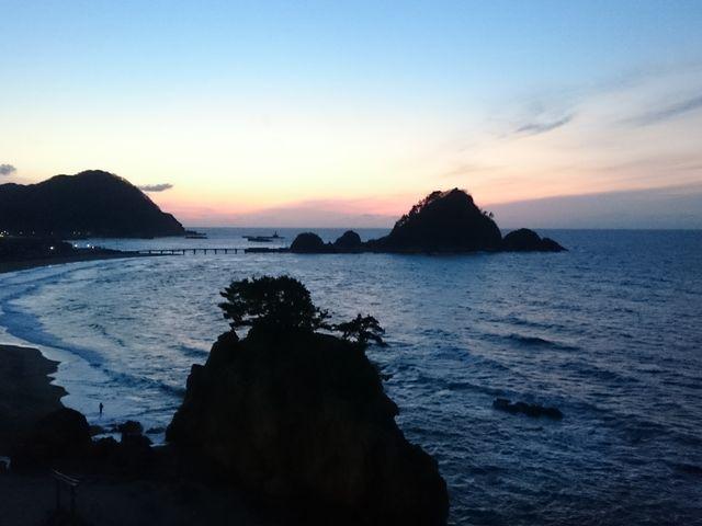 日の入り_由良海岸