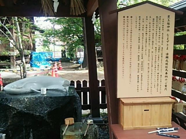 美肌の神様と白鯰様です_豊玉姫神社