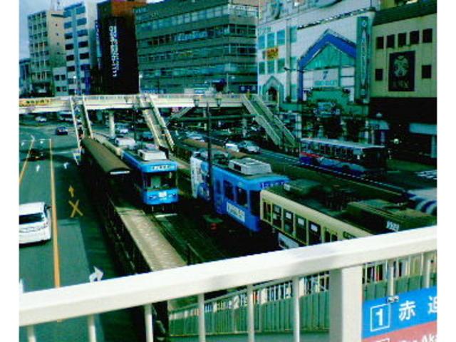 本数が多く次から次へと車両が来ました。_長崎電気軌道(長崎の路面電車)