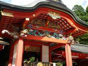 鮮やかな本殿。_霧島神宮