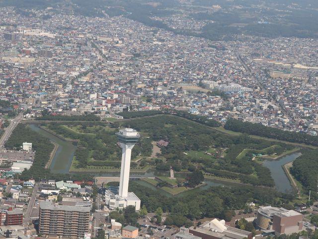 上空より撮影_五稜郭タワー