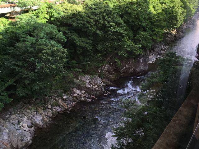 宿泊先・ホテル聚楽の部屋から望む、爽やか感満点の素晴らしい眺望です。(2/2)_水上温泉
