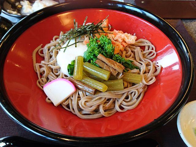 山菜そば_食事処 湯夢プラザ