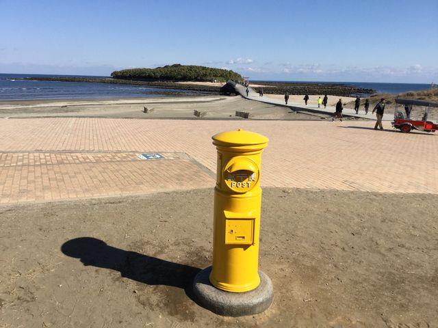 黄色いポスト_青島神社