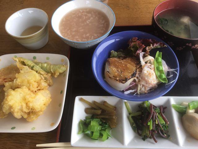 茶粥ランチ_生駒山