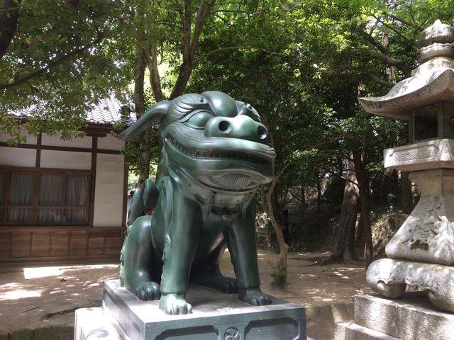 珍獣青銅製狛犬_住吉神社
