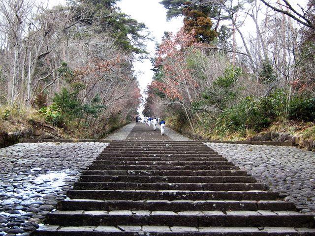大年寺山の石段_大年寺山公園