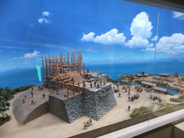秀吉による長浜城築城時の再現ジオラマ_長浜城歴史博物館