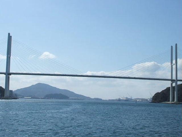 女神大橋_やまさの軍艦島上陸周遊クルーズ・長崎みなとめぐり遊覧船(ヘリテージクルーズ)