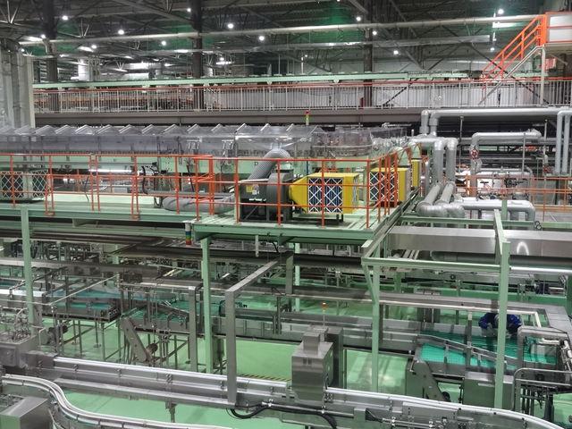 ビール生産ライン_アサヒビール 名古屋工場