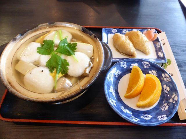 梅(具雑煮と稲荷寿司のセット)_姫松屋・本店