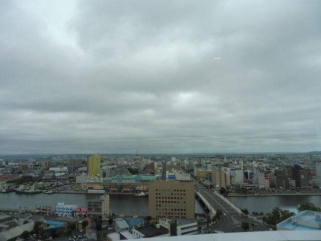 幣舞橋方面を望む_釧路市生涯学習センター(まなぼっと幣舞)