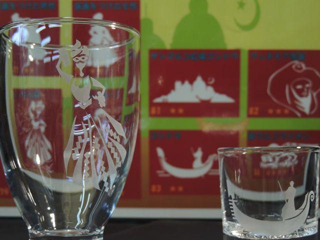 サンドブラスト体験のモチーフは約80種類!季節によってかわります。_箱根ガラスの森美術館