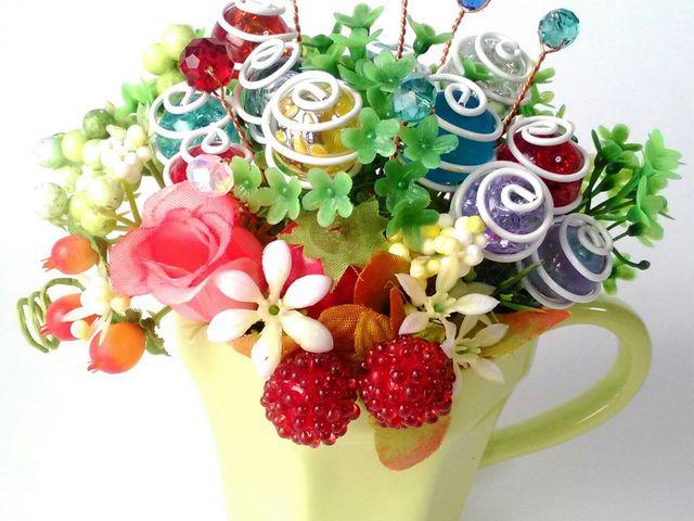 ビー玉のお花屋さん 雅 〈miyabi 〉オリジナルのビー玉のアレンジメント♪(商標.意匠登録)_手作り雑貨の雅<miyabi>