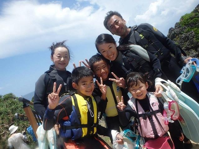 小さいお子様、おじいちゃん、おばあちゃんと一緒に楽しめるシュノーケリング!_ダイビングショップ SeaFree