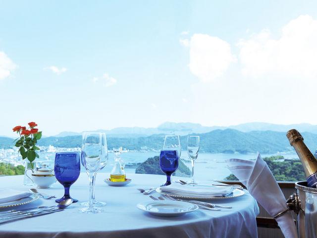 福良湾を見下ろしながらのランチタイム♪(一例)_ホテル&リゾーツ 南淡路
