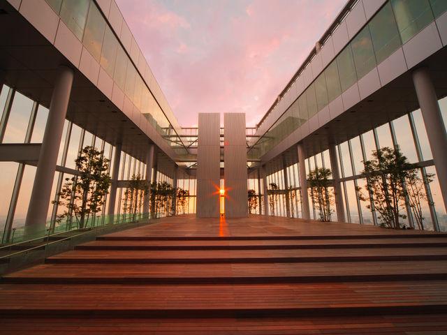 58階「天空回廊」夕陽_ハルカス300