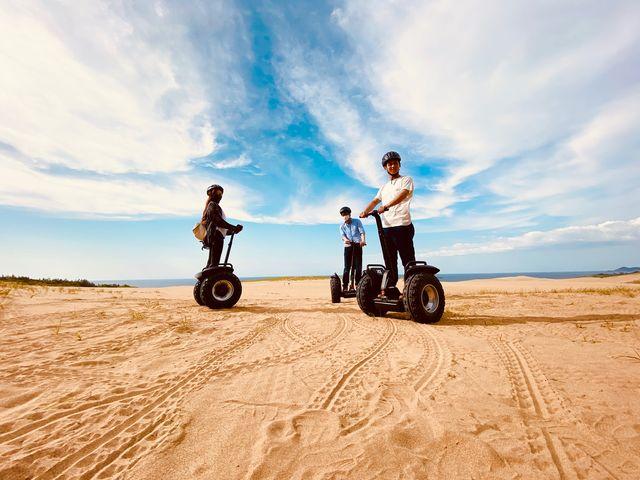 家族で友達と、カップルで!鳥取砂丘をセグウェイで体感しつくす!絶景スポットで想い出の写真や動画を!_鳥取砂丘セグウェイ周遊ガイドツアー
