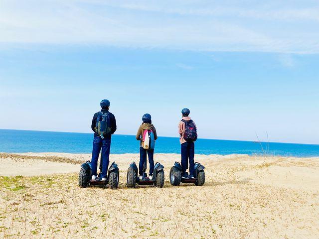 目の前に海を一望できる、誰もいないレアなエリアへ特別にご案内!_鳥取砂丘セグウェイ周遊ガイドツアー